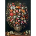 Букет цветов в лепной вазе - Брейгель, Ян (младший)