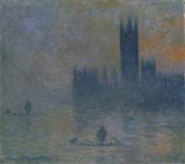 Здание Парламента в Лондоне, эффект тумана - Моне, Клод