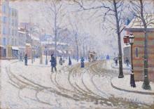 Бульвар Клиши, Париж, снег - Синьяк, Поль