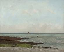 Море во время отлива - Курбе, Гюстав
