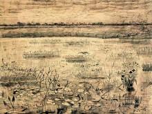 Болото с водяными лилиями (A Marsh with Water Lillies), 1881 - Гог, Винсент ван