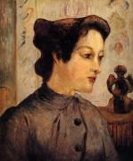 Женщина с шиньоном, 1886 - Гоген, Поль