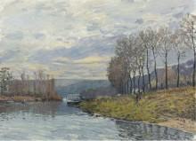 Сена в Буживале, 1873 - Сислей, Альфред