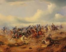 Атака австрийских уланов - Бенса, Александер фон