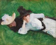Две девушки на лужайке - Сарджент, Джон Сингер