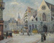 Церковь Сен-Никола-де-Шам, улица Сен-Мартен, Париж, 1908 - Мофра, Максим