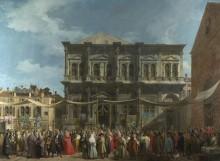 Венеция - Праздник святого Роха - Каналетто (Джованни Антонио Каналь)