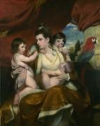Леди Кокберн и ее три старших сына -  Рейнолдс, Джошуа