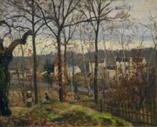 Лувесьен, зимний пейзаж, 1870 - Писсарро, Камиль