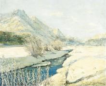 Ручей в долине под снегом -  Лапшин, Георгий Александрович
