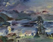 Вальхензее, восходящая луна, 1922 - Коринт, Ловис