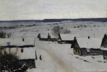 Деревня. Зима. 1877-78 - Левитан, Исаак Ильич