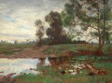 Утки у пруда - Линс, Адольф