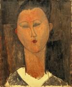 Молодая женщина с белым воротником - Модильяни, Амадео