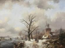 Зимний пейзаж с мельницей - Круземан, Фредерик Маринус