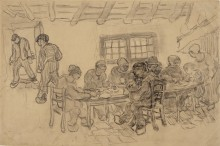 Интерьер с десятью фигурами (Interior with Ten Figures), 1890 - Гог, Винсент ван