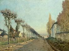 Улица в Лувесьене - Сислей, Альфред