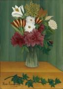 Цветы в вазе - Руссо, Анри