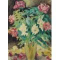 Хрустальная ваза с розами - Вальта, Луи