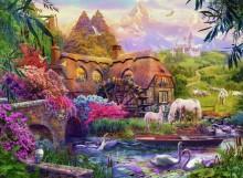 Пейзаж с водяной мельницей