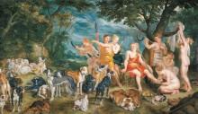 Диана с нимфами, отправляющиеся на охоту - Брейгель, Ян (Старший)