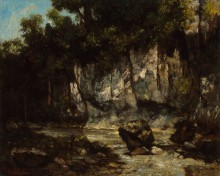 Пейзаж с оленем - Курбе, Гюстав
