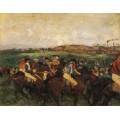 Жокеи перед стартом, 1862 - Дега, Эдгар