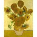 Натюрморт - ваза с пятнадцатью цветами (Still Life - Vase with Fifteen Sunflowers), 1888 - Гог, Винсент ван