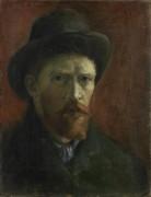 Автопортрет в темной фетровой  шляпе (Self Portrait with Dark Felt Hat), 1886 - Гог, Винсент ван
