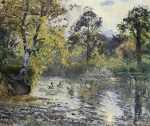 Пруд, 1874 - Писсарро, Камиль