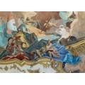Аполлон сопровождает Беатрис Бургундскую в качестве невесты императору Фридриху Барбароссе, деталь - Путто с имперским мечом - Тьеполо, Джованни Баттиста