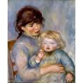 Материнство (или Девочка с бисквитом) - Ренуар, Пьер Огюст