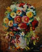 Букет цветов в теплых тонах - Афремов, Леонид (20 век)