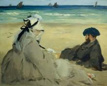 На пляже - Мане, Эдуард
