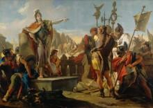 Обращение царицы Зенобии к своим солдатам - Тьеполо, Джованни Баттиста