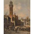 Сиена - Пьяцца дель Кампо и палаццо Пубблико - Зиген, Август фон