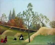 Пейзаж с укрепленным валом - Руссо, Анри
