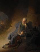 Иеремия, оплакивающий разрушение Иерусалима - Рембрандт, Харменс ван Рейн