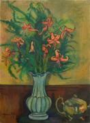 Ваза с лилиями и чайник - Валадон, Сюзанна