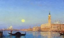 Гондола в Венецианской лагуне -  Зим, Феликс