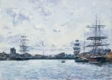Прилив в довильском порту - Буден, Эжен