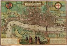Старая карта Лондона