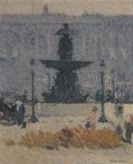 Фонтан на площади Согласия в Париже, 1925 - Мартен, Анри Жан Гийом