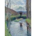 Река в зелени весной, 1930 - Мартен, Анри Жан Гийом