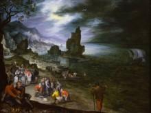 Прибрежный пейзаж с жертвоприношением Ионы - Брейгель, Ян (Старший)