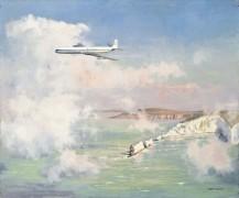 Самолет, пролетающий скальную гряду - Шеперд, Девид (20 век)