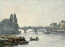 Мост Корнеля в Руане, эффект тумана - Буден, Эжен