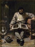 Марк Трабаду, рассматривающий гравюры - Курбе, Гюстав