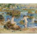 Нагие мльчики среди валунов в Живерни, 1883 - Ренуар, Пьер Огюст