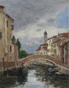 Малый канал в Венеции, 1895 - Буден, Эжен